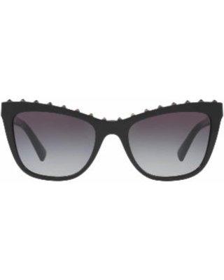 Deals on Rockstud Cat Eye Sunglasses - Black - Valentino Sunglasses