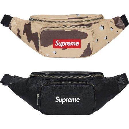 Supreme Leather Waist Bag