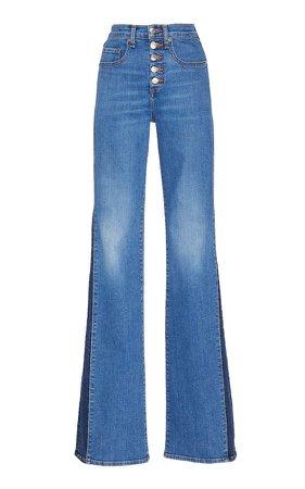 Kiley Stretch High-Rise Wide-Leg Jeans
