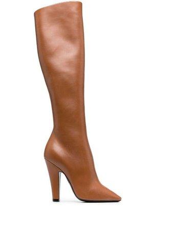 Saint Laurent 68 110mm knee-high Boots - Farfetch