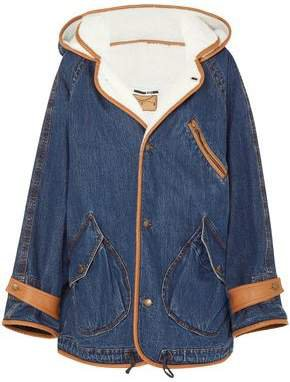 Denim And Faux-shearling Jacket