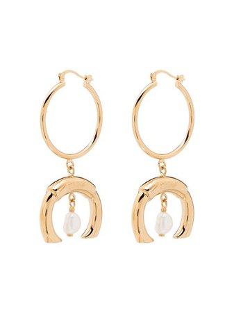 Chloé Hoop Drop Pearl Earrings - Farfetch