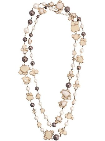 Chanel Pre-Owned CC Faux Pearl Necklace - Farfetch