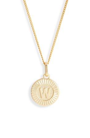 Bracha Initial Medallion Pendant Necklace | Nordstrom