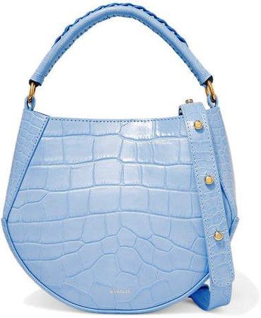 Wandler - Corsa Mini Croc-effect Leather Shoulder Bag - Sky blue