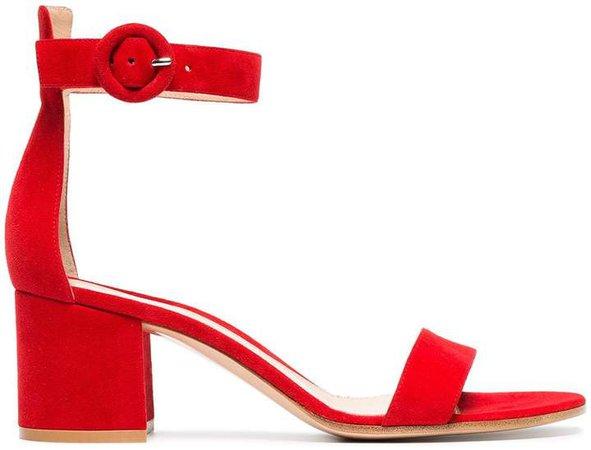 red Portofino 60 suede sandals