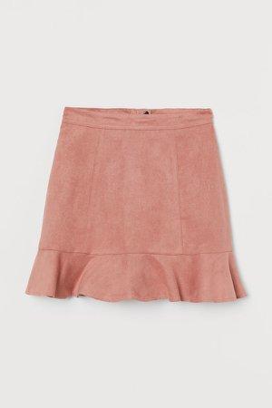 Flounced Skirt - Pink