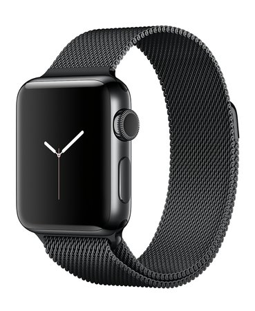 Apple Watch Series 2 38mm Space Black Stainless Steel Case with Space Black Milanese Loop - Apple Watch - Jewelry & Watches - Macy's