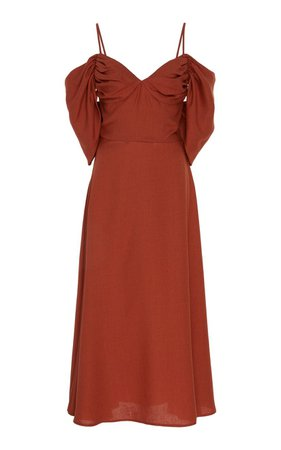Katalina Twill Off-The-Shoulder Midi Dress by Cult Gaia | Moda Operandi