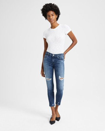 Mid-Rise Cropped Skinny Jean