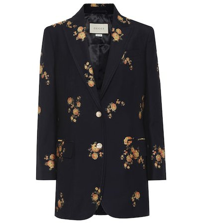 Floral fil coupé jacket