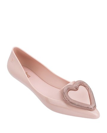 Melissa Shoes Pointy Heart Ballet Flats