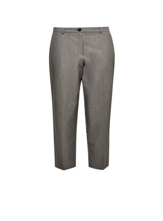 DP Petite Grey Elastic Back Ankle Grazer Trousers | Dorothy Perkins