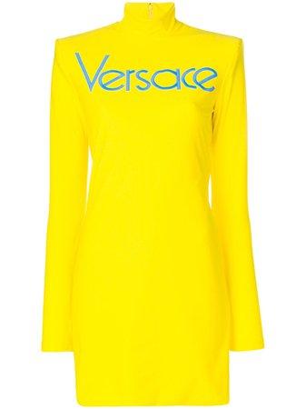 VERSACE Versace Vintage Logo Dress - Yellow & Orange
