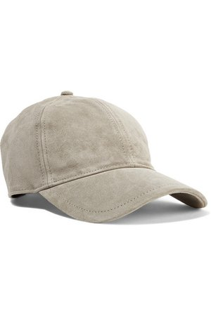 rag & bone | Marilyn leather-trimmed suede baseball cap | NET-A-PORTER.COM