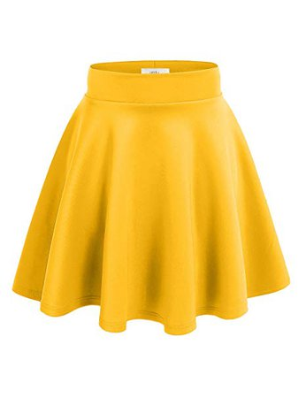 skater skirt 03 yellow