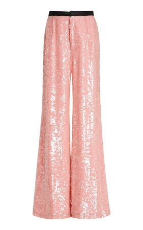 Chloris Sequined Chiffon Wide-Leg Pants by Markarian | Moda Operandi