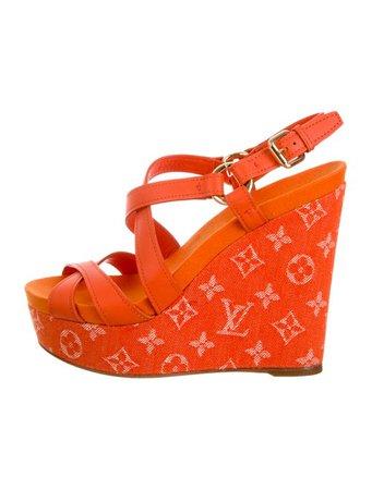 Louis Vuitton Ocean Platform Wedge Sandals - Shoes - LOU222490   The RealReal