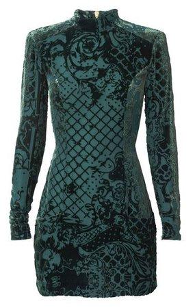 Black & Emerald Green Dress