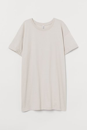 Long T-shirt - Light beige - | H&M US