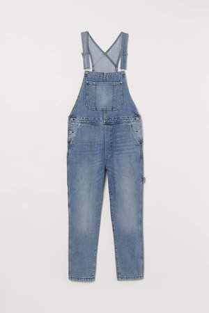 Denim Bib Overalls - Blue