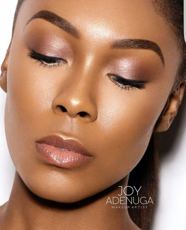 Nude Makeup on Dark Skin 1
