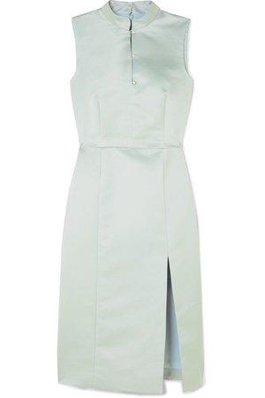 ALEXACHUNG   Embellished satin dress   NET-A-PORTER.COM