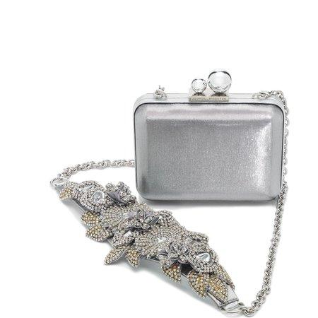 Silver and gemstone flower minauderie