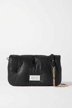 Glam Slam Quilted Leather Shoulder Bag - Black