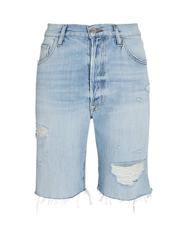 FRAME Le Slouch Distressed Bermuda Shorts | INTERMIX®