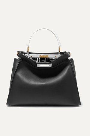 Black Peekaboo leather tote | Fendi | NET-A-PORTER