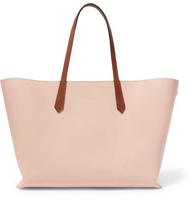 Printed Leather Tote - Pink