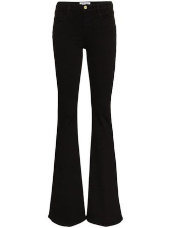 FRAME High-Rise Flared Jeans - Farfetch