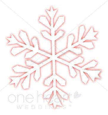 Pink Snowflake Clipart   Snowflake Wedding Clipart