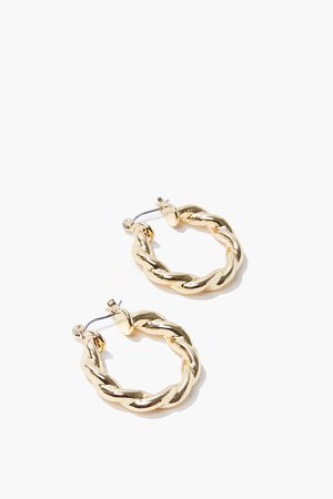 Upcycled Twisted Hoop Earrings | Forever 21