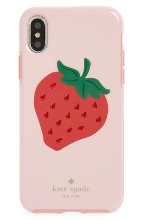 kate spade new york jewel strawberry iPhone X case