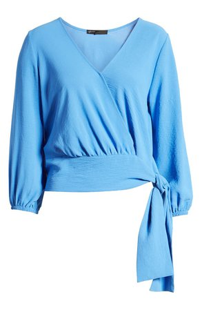 Gibson x Hot Summer Nights Almost Ready Tie Waist Wrap Top (Nordstrom Exclusive) | Nordstrom