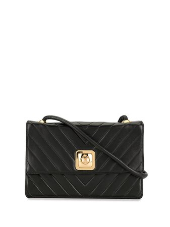 Black Chanel Pre-Owned 1992 V Stitch Cross Body Bag | Farfetch.com