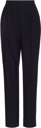 High-Waisted Tapered-Leg Trousers