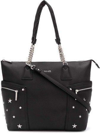 star-studded tote bag