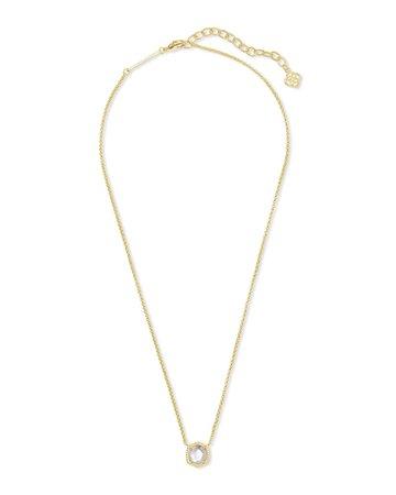 Davie Gold Pendant Necklace in Lavender Kyocera Opal   Kendra Scott