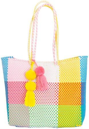 Soi 55 - Beatriz Shopper Tote Rainbow Check