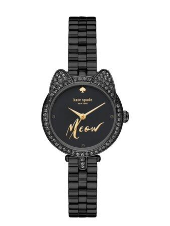 black cat mini gramercy watch | Kate Spade New York