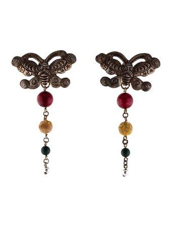 Stephen Dweck Multistone Butterfly Earrings - Earrings - STD23474 | The RealReal