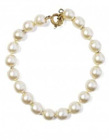 Large pearl chunky necklace