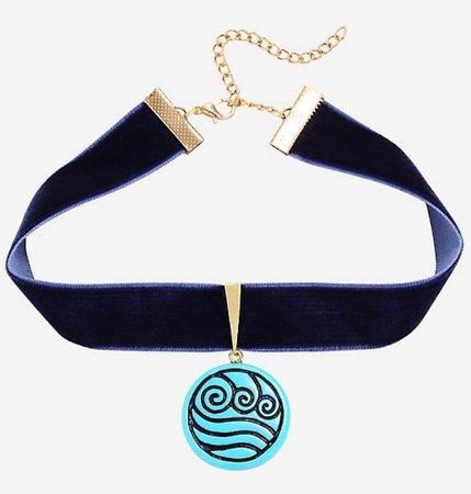 katara necklace choker blue water tribe