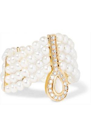 Anissa Kermiche | 14-karat gold, pearl and diamond ring | NET-A-PORTER.COM