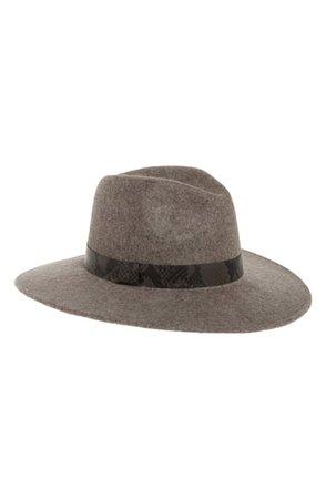 Treasure & Bond Snakeskin Print Trim Wide Brim Wool Panama Hat | Nordstrom