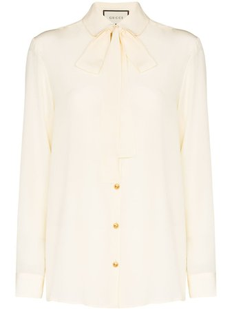 Gucci, pussy bow blouse