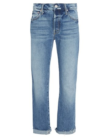 MOTHER | The Scrapper Cuffed Straight Jeans | INTERMIX®